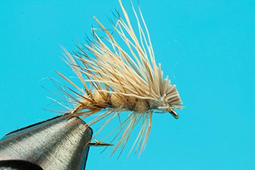 Elk Hair Caddis Tan--One Dozen--Size 16 - Tan Elk Hair Caddis