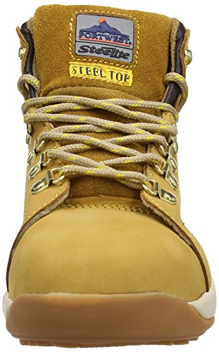 seguridad Marrón Steelite 44 Botas de para Black Cut EU Negro Portwest SB color Nubuck hombre Honey talla Mid 6aqnwnd0U