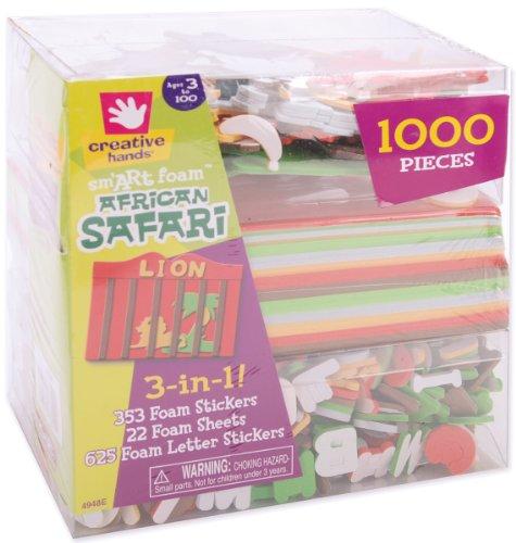 Fiber Craft 3-in-1 Foam Kit, African Safari