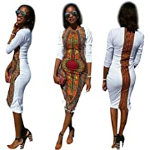 Gyoume Print Party Women Dress Summer Casual Deep O-Neck Traditional Bodycon Party Dresses