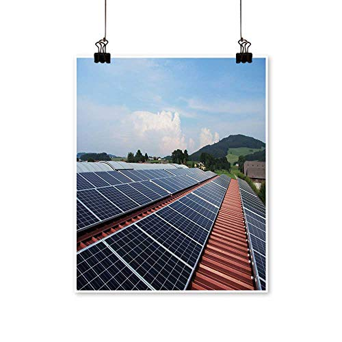 1 Piece Wall Art Painting Flat Panels of Solar Panels Living Room Office Decoration,28