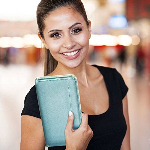 Travel Document Organizer & RFID Passport Wallet Case, Family Passport Holder Id (Blue Sky) by Apadi (Image #8)