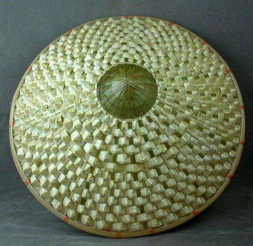 Deluxe Oriental Handmade Straw Cone Garden Fishing Sun Rice BAMBOO HAT ()