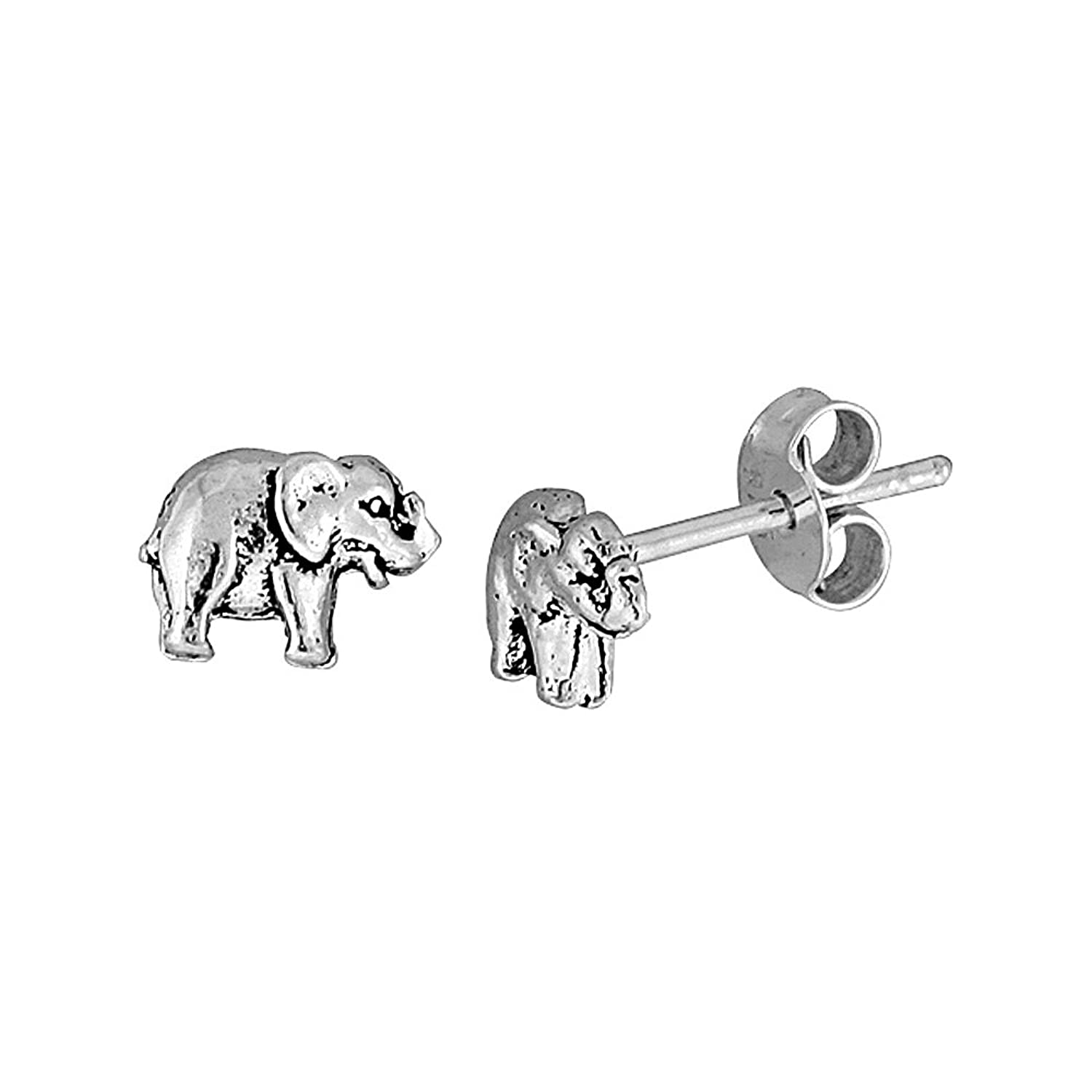 page com elephant tova sterling qvc product for earrings diamonique stud
