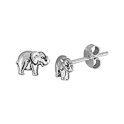 piper silver items earrings popular elephant pink sterling stud penny and kinz collections
