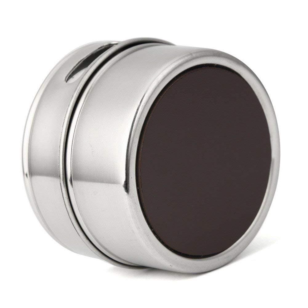 Wokee 12pcs Magnetico Visibile Acciaio Inox Spezie Pentola Erbe Latta Barattolo Conservazione Sostegno Cucinare Stand