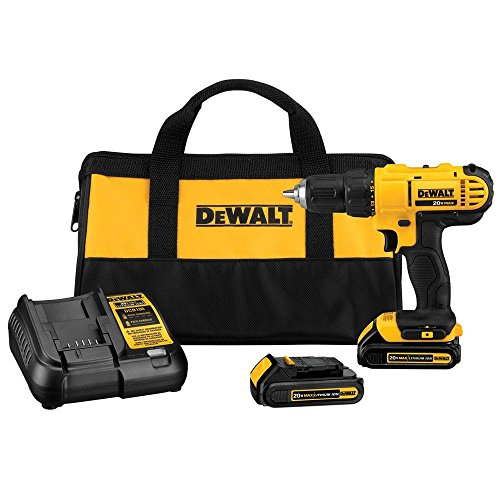 Dewalt DCD771C2 20V MAX Cordless Lithium-Ion 1/2 inch Compact Drill Driver Kit from DEWALT