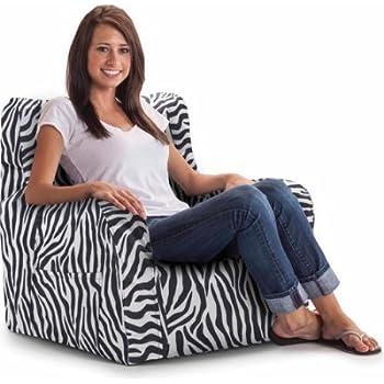 Amazon Com Big Joe Smartmax Duo Bean Bag Chair Zebra