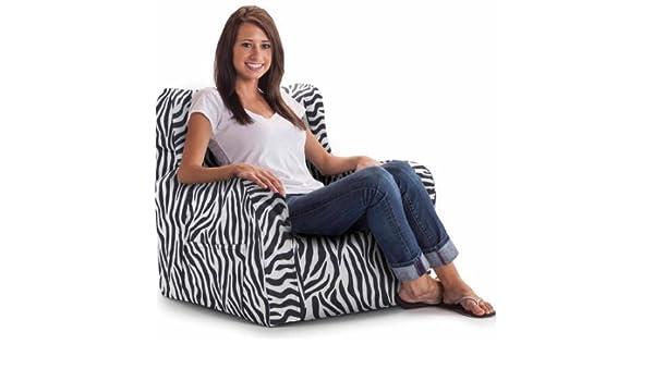 Prime Big Joe Smartmax Duo Bean Bag Chair Zebra Onthecornerstone Fun Painted Chair Ideas Images Onthecornerstoneorg