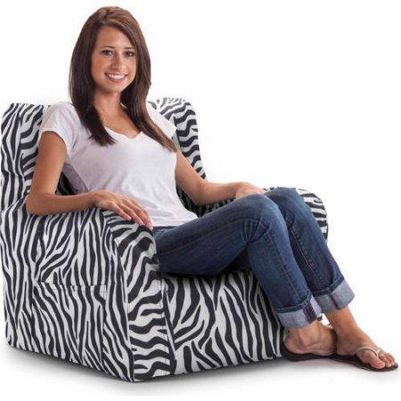 Astounding Big Joe Smartmax Duo Bean Bag Chair Zebra Onthecornerstone Fun Painted Chair Ideas Images Onthecornerstoneorg