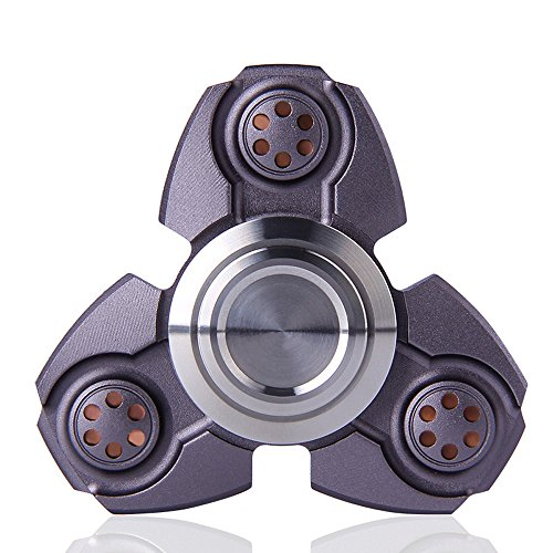 FREELOVE Russia UFO Triangle Design Fidget Spinner Toy Stress Reducer Premium EDC Disassemble Silicon Nitride Ceramic Bearing Helps Focus, Stress, Anxiety (Gun Color, Aluminum Alloy)
