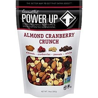 Power Up Trail Mix, Almond Cranberry Crunch Trail Mix, Non-GMO, Vegan, Gluten Free, No Artificial Ingredients, Gourmet Nut, 14 oz Bag