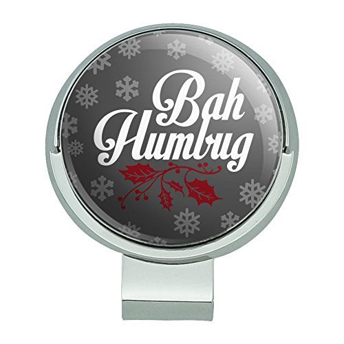 GRAPHICS & MORE Bah Humbug Christmas Funny Golf Hat Clip with Magnetic Ball Marker -