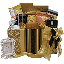 To Have and To Hold Wedding or Anniversary Gourmet Gift Box with Caviar (Chocolate Option)
