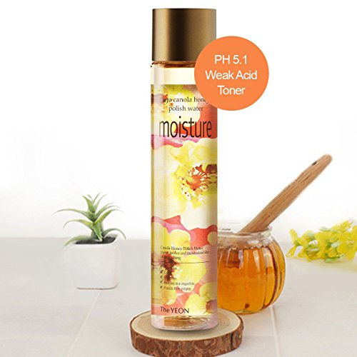 Korean Skin Care - The YEON Low PH Jeju Canola Honey Polish Water Moisture 270 ml [with Mist Container]