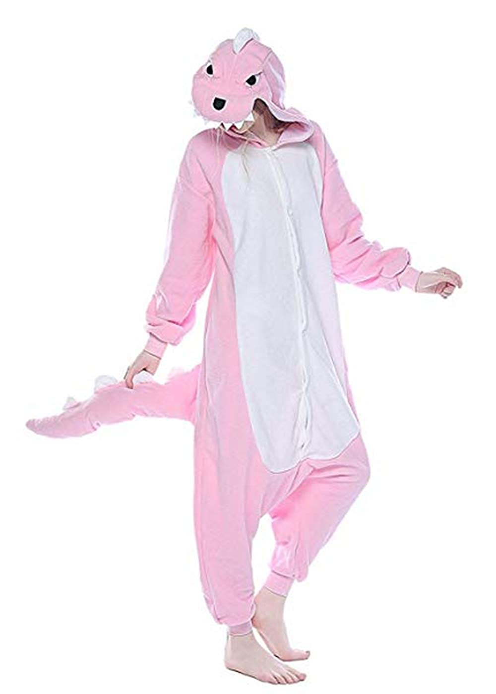 Unisex Adult Kids Dinosaur Onesie Animal One Piece Pajamas Halloween Costume