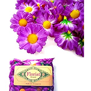 "(100) Silk Violet Gerbera Daisy Flower Heads , Gerber Daisies - 1.75"" - Artificial Flowers Heads Fabric Floral Supplies Wholesale Lot for Wedding Flowers Accessories Make Bridal Hair Clips Headbands Dress 2"