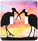 3dRose lsp_89102_2 Florida, Mt Dora, Ibis Bird Silhouettes Us10 Dsn0012 Deborah Sandidge Double Toggle Switch