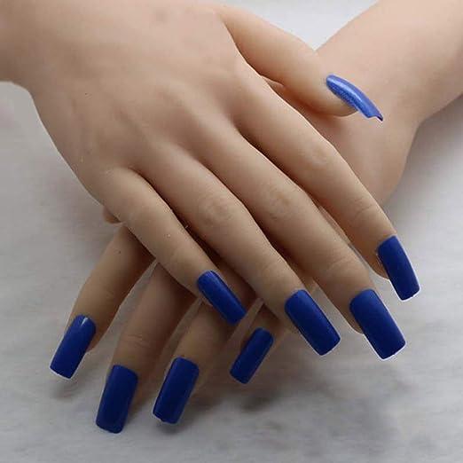 Uñas postizas de estilo francés profesional - puntas de uñas acrílicas, 10 tamaños diferentes, con caja: Amazon.es: Belleza