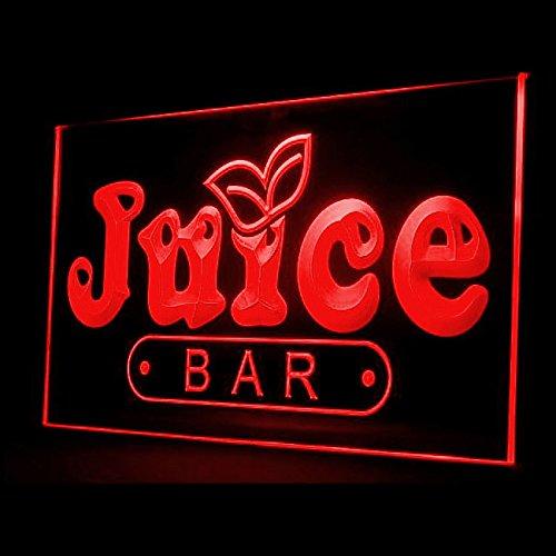 OPEN Juice Bar Cafe Restaurant Fruit Apple Orange Peaches LED Light Sign 110034 Color Red Juice Bar Led Sign