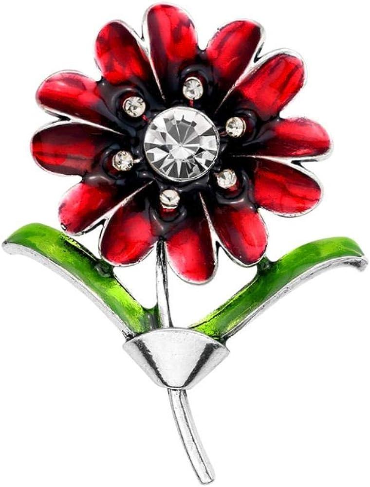 1pc Broche Femme De No/ël Alliage Bijoux D/écoration S/érie personnalit/é Gouttes dhuile Broche pins pour Chapeau Accessoire de Costume Mariage F/ête Cadeau Corsage Ch/âle Fleur du Soleil Rouge Cdet