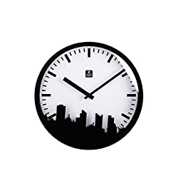 City View Metal Wall Clock, 12