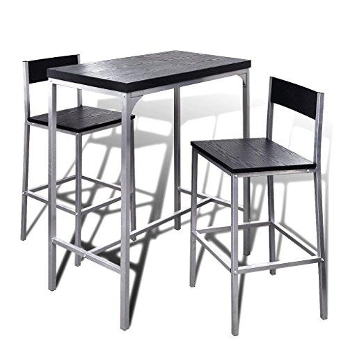 vidaXL Bartisch Frühstückstisch Stehtisch mit Stühlen