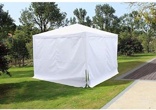 Bali cenador de jardín 3 x 3 m con cortinas: Amazon.es: Hogar