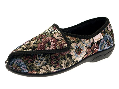 Dr Keller - Zapatillas de estar por casa de sintético para niña blue/grey/navy blue/pink/rose gris - Multi Coloured Flowers