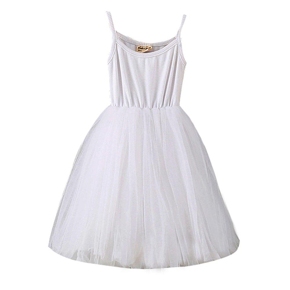 XUNYU Baby Girls Tutu Dress Sleeveless Infant Toddler Sundress Tulle Bubble 5 Layers