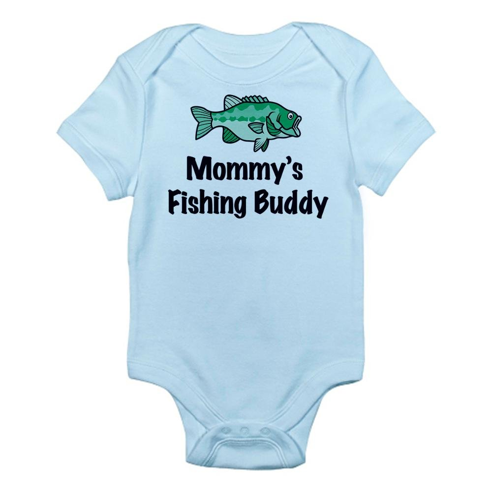a598b48a909 Amazon.com  CafePress Mommy s Fishing Buddy Infant Baby Bodysuit  Clothing