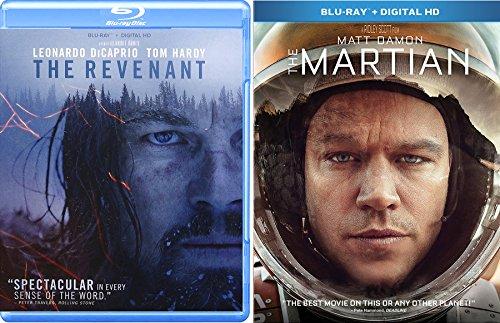 Surviving Space & Wilderness Collection Martian Matt Damon & The Revenant Leonardo DiCaprio 2-Blu Ray Bundle Double Feature