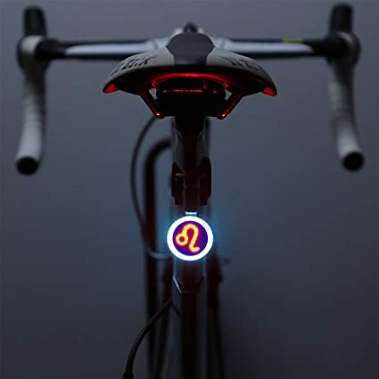 Portable Bike Bicycle Helmet Red Bright LED Rear Light 3 Modes Safety Tail Lamp