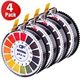 Universal pH Test Paper Strips pH Test Strips Roll, pH Measure Full Range 0-14, 16.4 ft/Roll (4 Rolls)