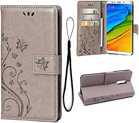 Amazon.com: Wallet Case for Xiaomi Redmi 5 Plus, 3 Card ...