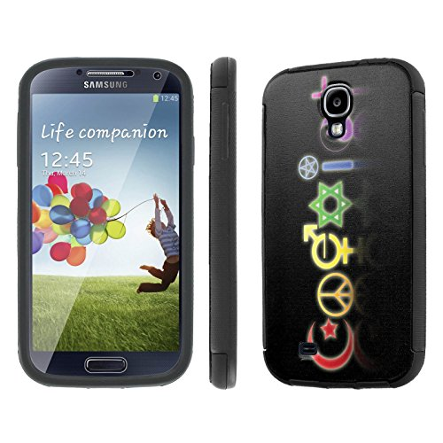 Samsung Galaxy S4 Case, [NakedShield] [Black] DUO Shock Resistant Armor Case - [Coexist] for Samsung Galaxy S4