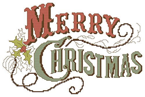 Vintage Christmas Cross Stitch Pattern product image