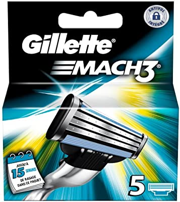 Gillette mach 3 - Recambios para cuchillas de afeitar (5 unidades ...