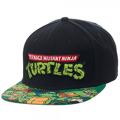 Teenage Mutant Ninja Turtles Hat (BIOWORLD Teenage Mutant Ninja Turtles TMNT Sublimated Bill Snapback Hat)