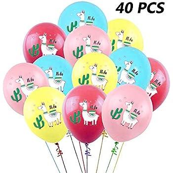 Amazon.com: 24 globos de látex de Llama para artículos de ...