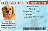 Pet Health Records ID Card