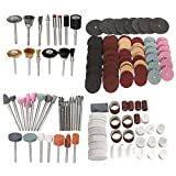 Hitommy 222pcs 1/8 Inch Shank Rotary Tool Accessories Bits Set for Dremel with Wood Storage Box