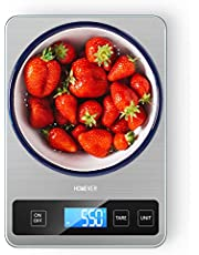 Food Scale, Homever 15kg Kitchen Digital Scales with Large Panel, Digital Food Scale with 1g Accuracy and Back-lit LCD Display