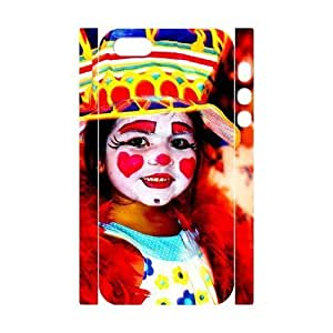 3D Bumper Plastic Customized Case Of Clown for iPhone 5,5S