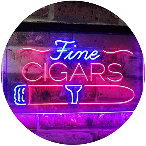 ADVPRO Fine Cigars Shop Smoking Room Man Cave Dual Color LED Neon Sign Red & Blue 16 x 12 Inches st6s43-i2510-rb (Led Cigar Sign)