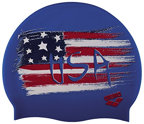 (arena Print 2 Swim Cap, USA Flag)