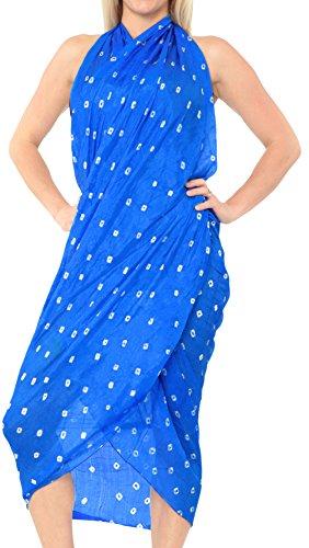 LA LEELA Silk Bikini Cover Up Girls Pareo Sarong Tie Dye 78