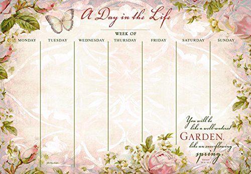 Legacy Publishing Group A Day in the Life Undated Weekly Planner Pad, Ever-Flowing Spring