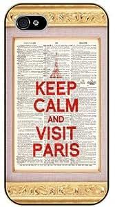 iphone 6 plus 5.5 Keep calm and visit Paris - black plastic case / Keep calm, funny, quotes, vintage