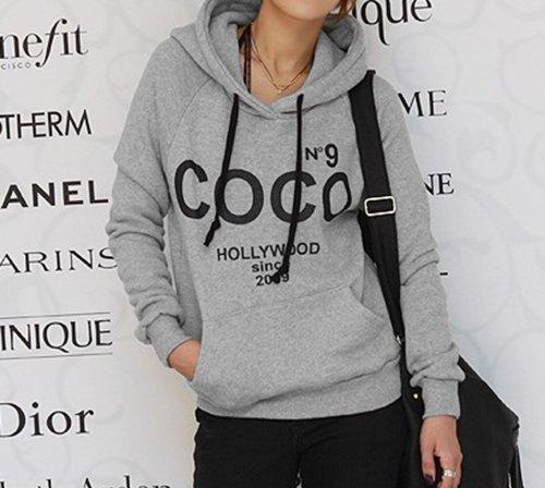 Chuangmei Womens Girls Hoodies Sweater Hooded Sweatshirt Outwear ...